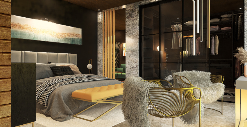 Forest Villa Interior Design Render