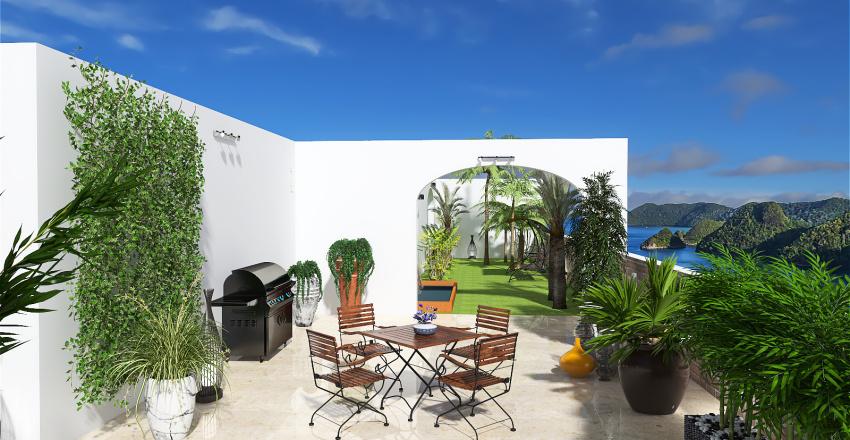 courtyard Interior Design Render