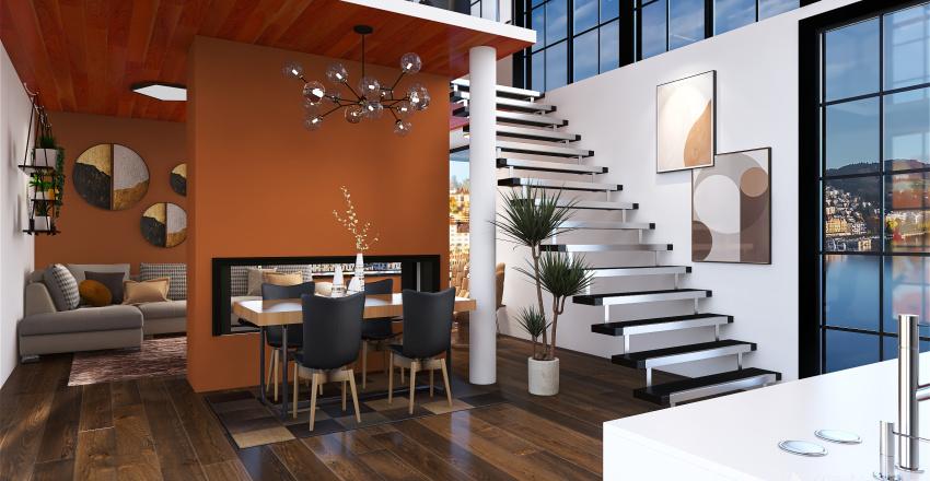 Urban Chic Interior Design Render