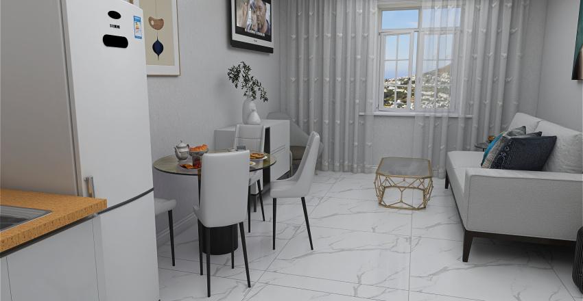 Modern White  House Interior Design Render