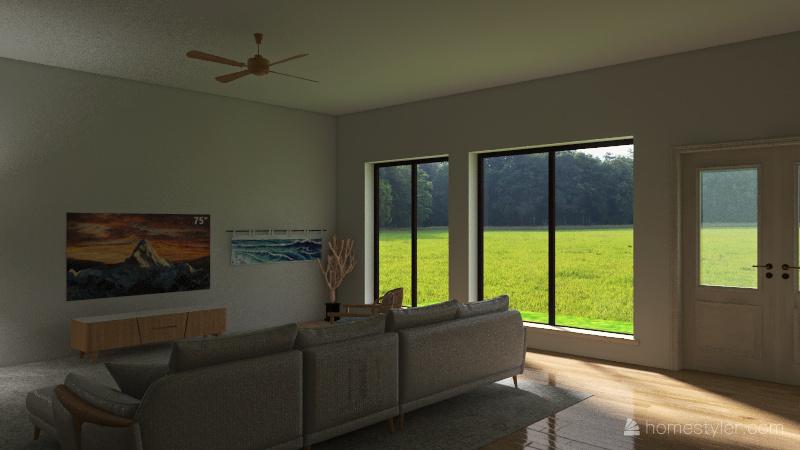Beach Cottage Interior Design Render
