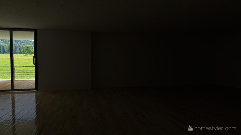 Studio Ampartment complex Interior Design Render
