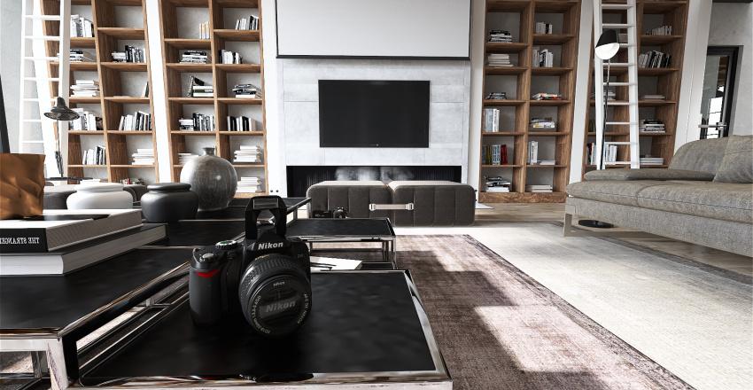 Loft de estilo industrial para un fotógrafo Interior Design Render