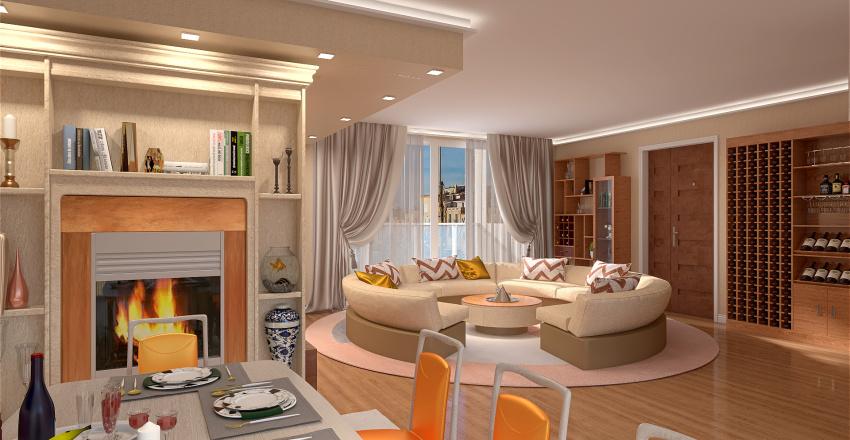 appartamento moderno Interior Design Render