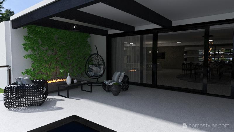 Eclectic House Interior Design Render