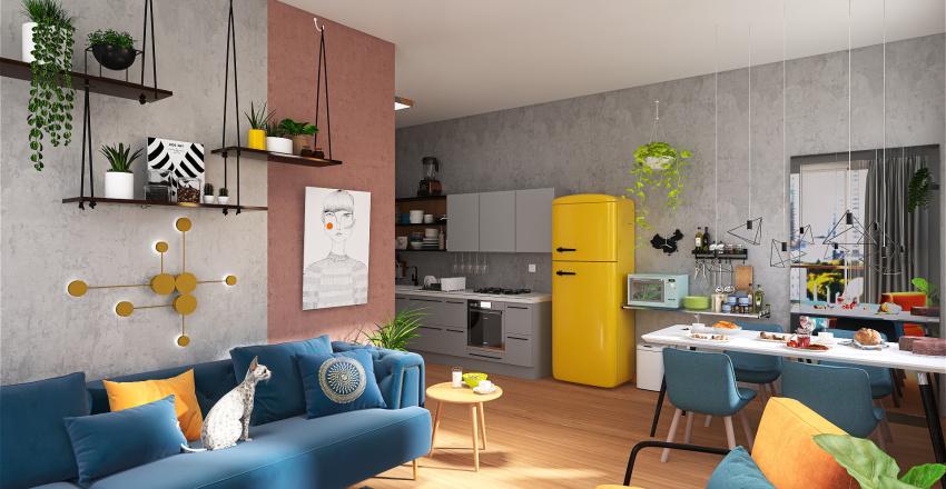 AMERICAN APARTMENT 56 Interior Design Render