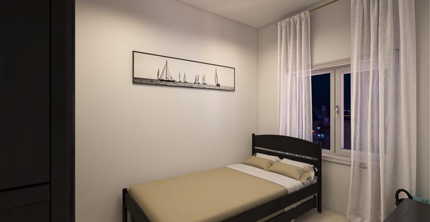 compact bedroom Interior Design Render