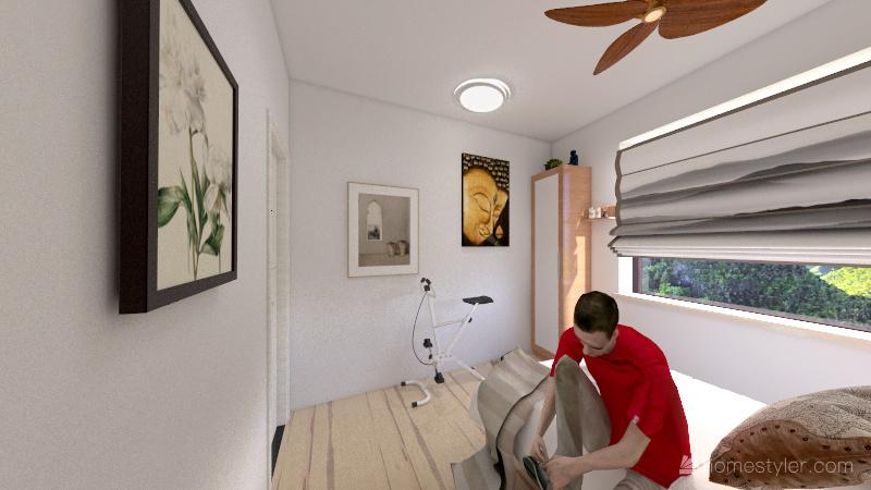 Est. Japindi dormitorio Interior Design Render