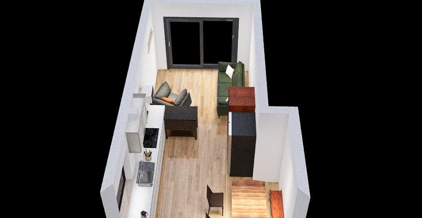 left hand peninsula Interior Design Render