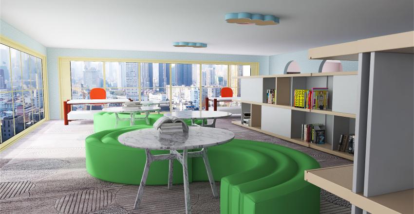 childrens library Interior Design Render