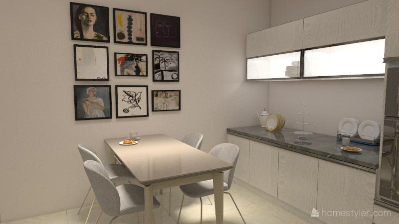 Projeto Casa 1 Interior Design Render