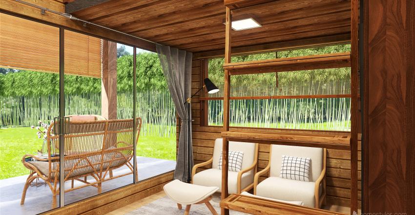 Nhà gỗ Interior Design Render