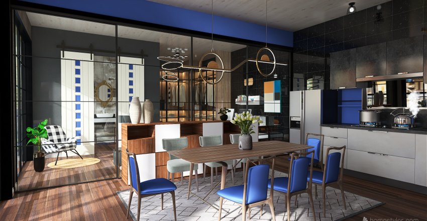 Premium Loft Interior Design Render