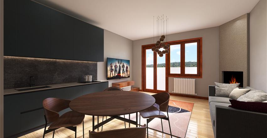 Copy of Parola 2 camera/cucina bis Interior Design Render