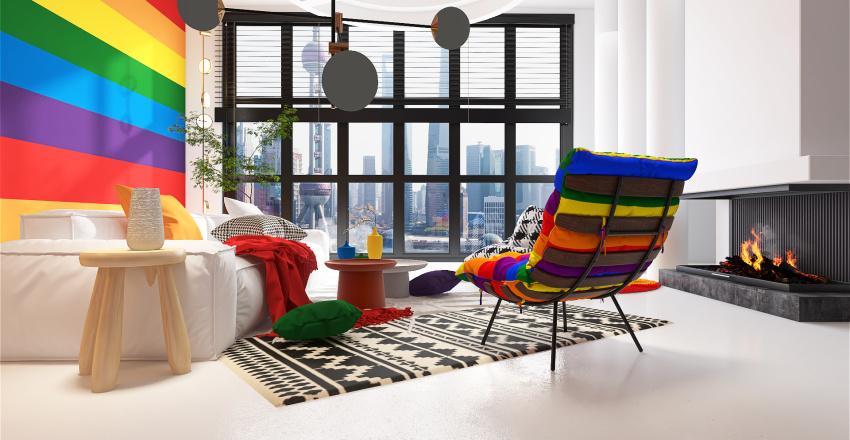 OVER THE RAINBOW  Interior Design Render