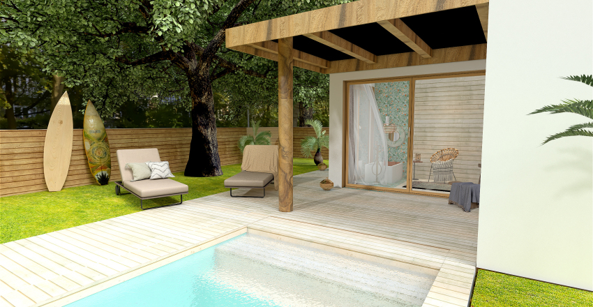 the surf guest house that you deserve Interior Design Render