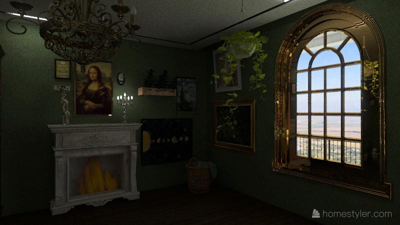 cottagecore room Interior Design Render