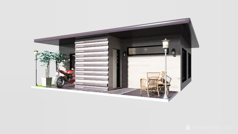 1 bedroom House Interior Design Render