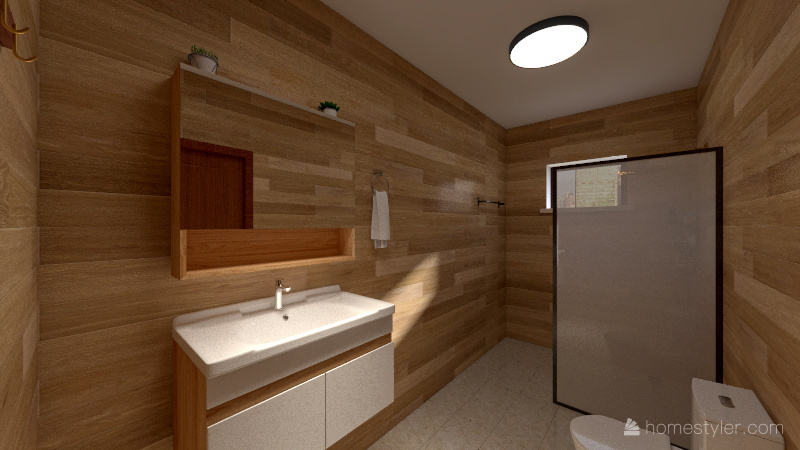 Banheiro Simples Interior Design Render