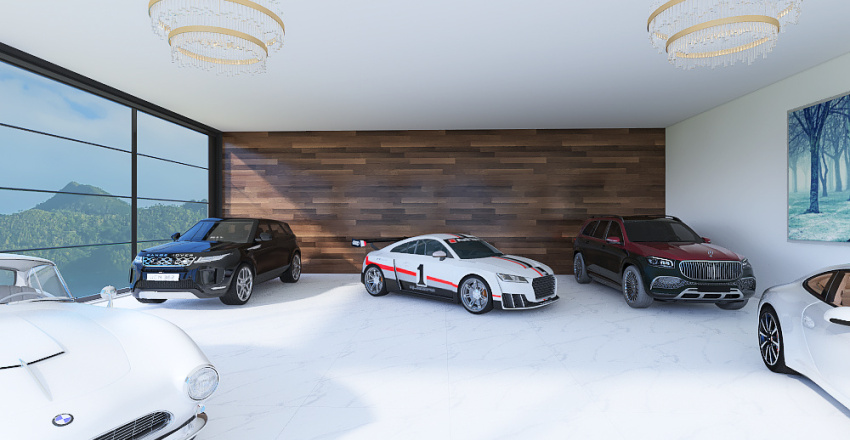 A Car Enthusiast House Interior Design Render