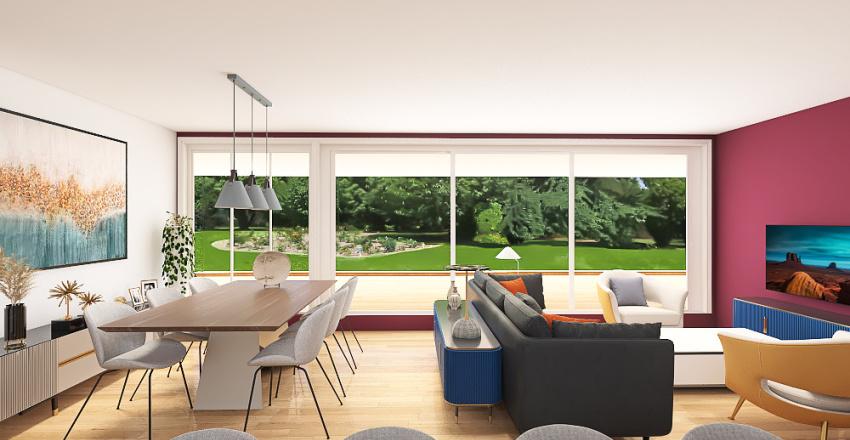 Cabane bois passive Interior Design Render