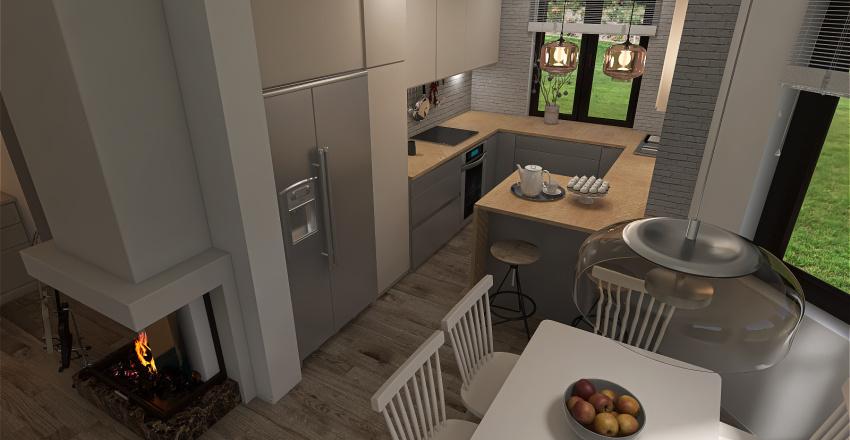 #Residential Neutral & Modern kitchen Interior Design Render