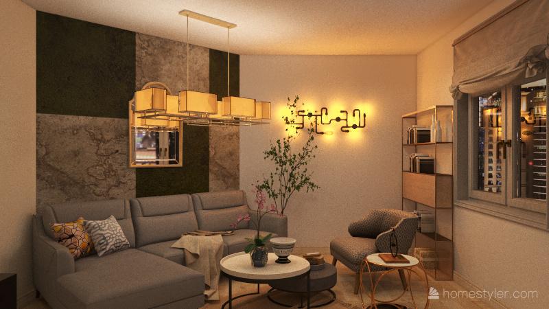 The studio Interior Design Render