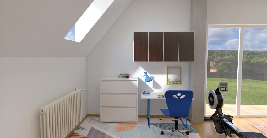 Pokój chłopców Interior Design Render
