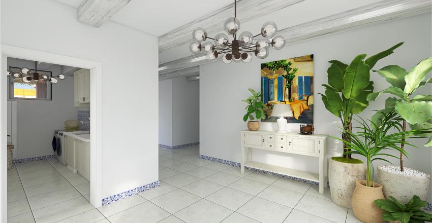 Large typical Portuguese house Interior Design Render