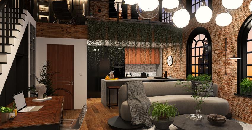 Urban Jungle Loft Interior Design Render