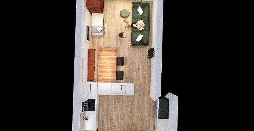 U Shape Interior Design Render