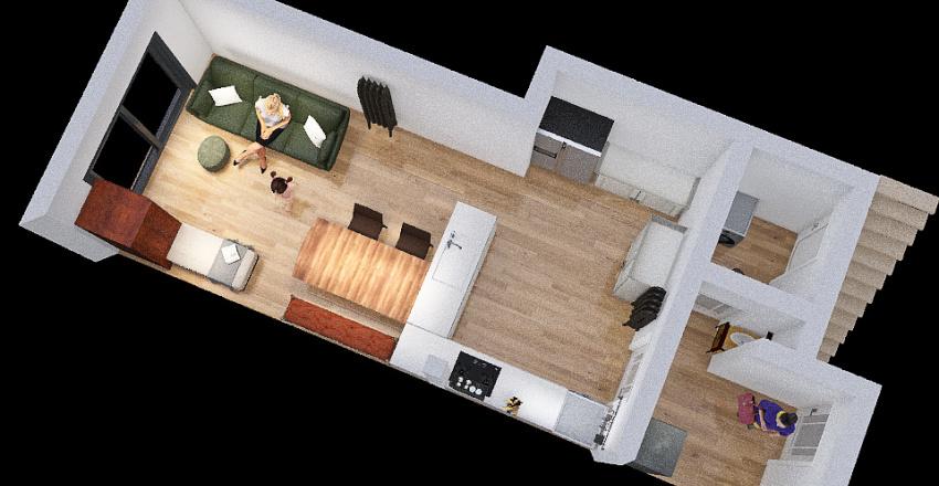 Wider kitchen Interior Design Render