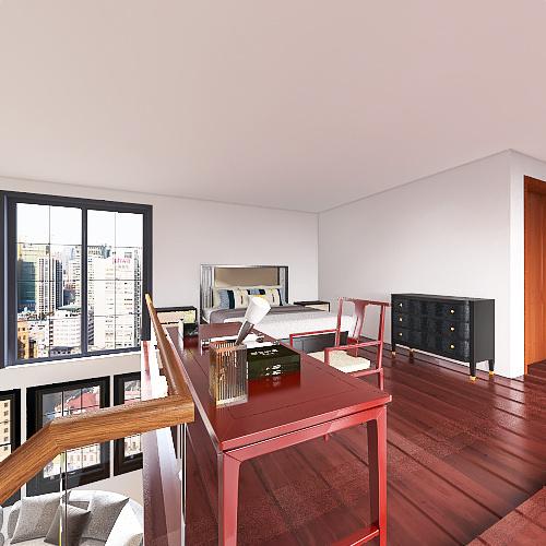 Simple Loft House Interior Design Render