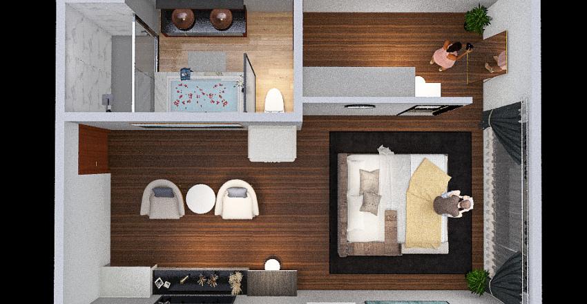 Detail Interior Kamar Hotel Suite Interior Design Render