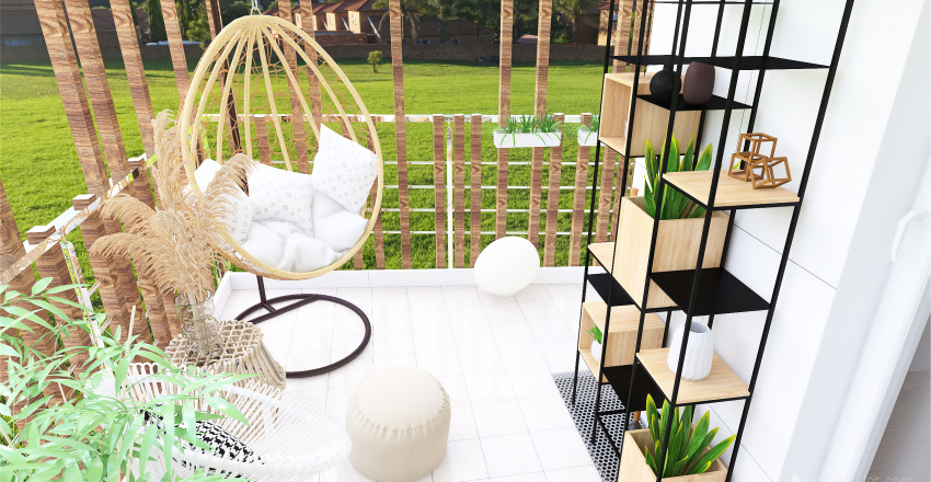 Balcon à Marie Interior Design Render