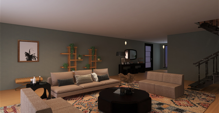 Modern and Bohemian house style Mar Isa creation Interior Design Render