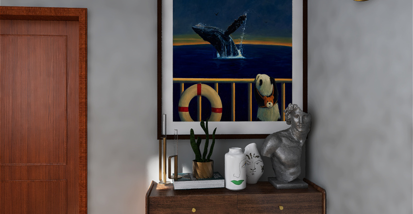 Artist like bedroom Interior Design Render