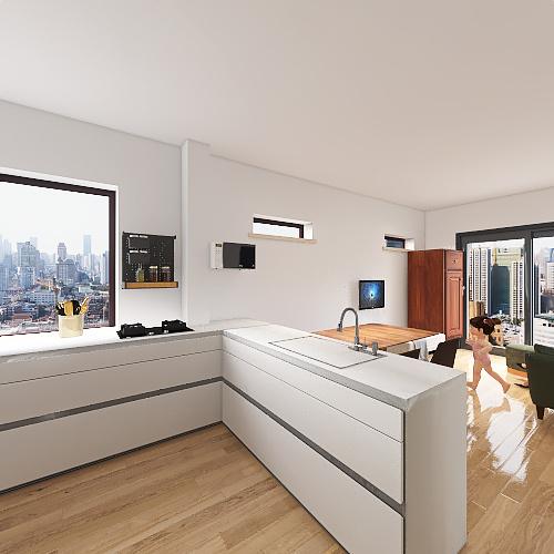 NEW u shape Interior Design Render