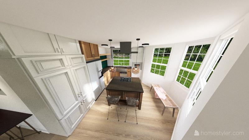 Zalesie - projekt Interior Design Render