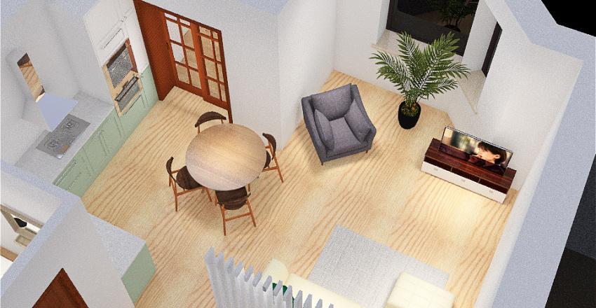 Молодежная 3, стол в гостинной Interior Design Render
