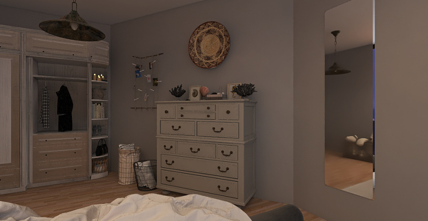 Two beds home Interior Design Render