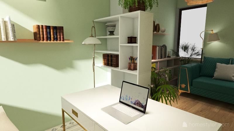 bureau mezzanine Interior Design Render
