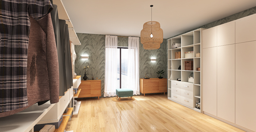 Vestidor Interior Design Render