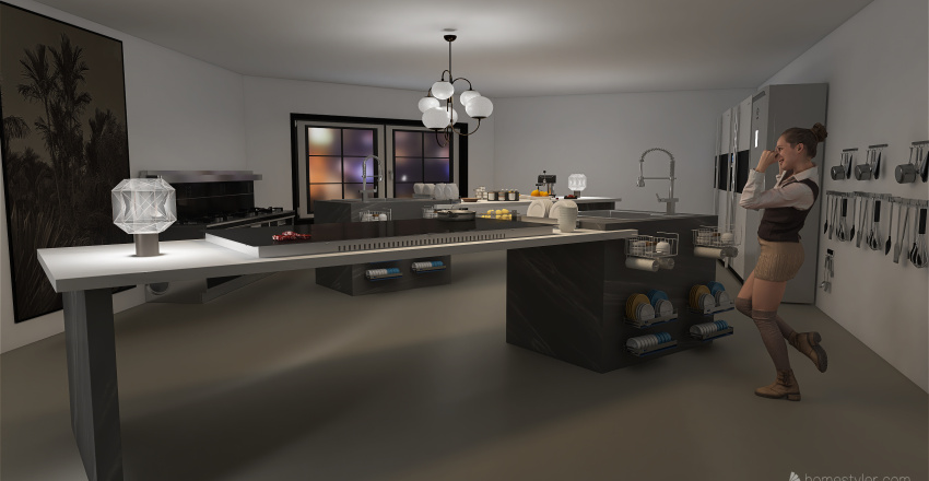 RUIDUVIT: Enjoy, Eat and Live. Your casual restaurant. Interior Design Render