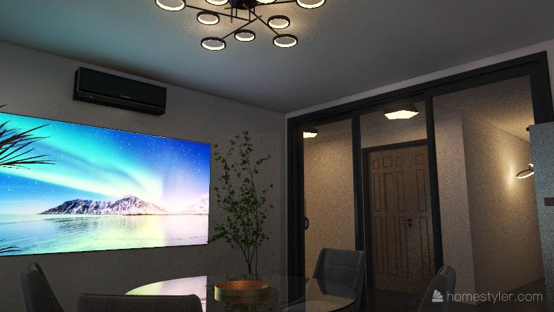 Black design Interior Design Render
