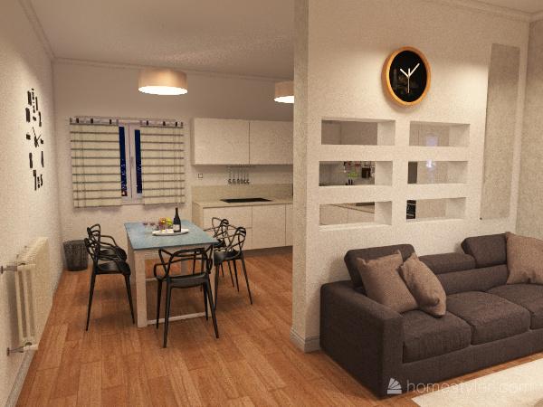 three-room apartment Interior Design Render
