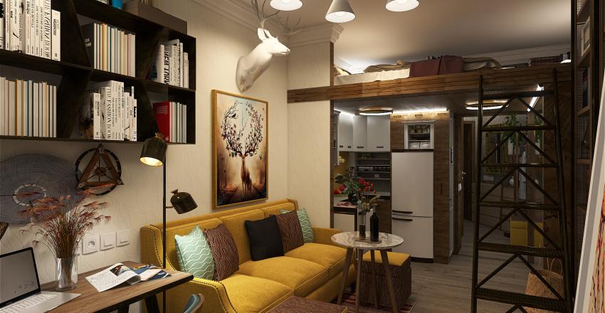 Old fund - room 18 m Interior Design Render