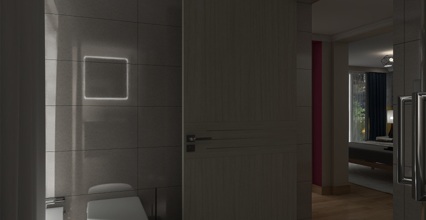 The small house for rest Interior Design Render