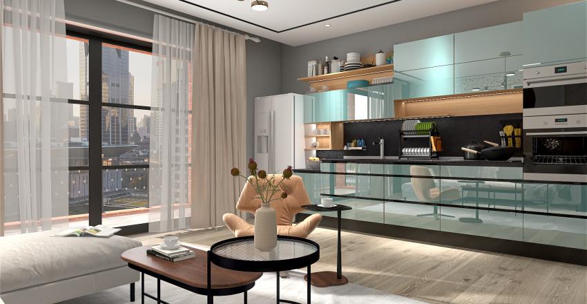 Small town apartment Interior Design Render