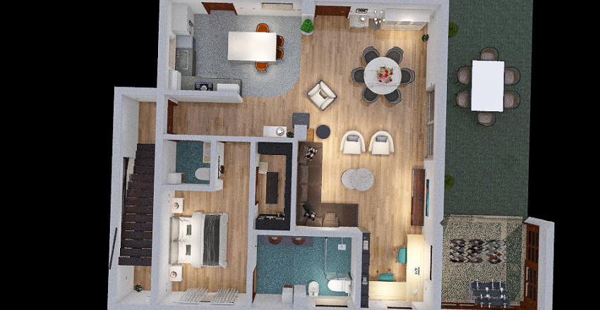 PLANTA BAJA ONIL Interior Design Render